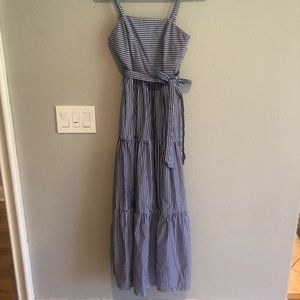 Jcrew size 4 blue and white stripped dress